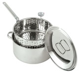 1101 Stainless 10 Qt Fry Pot