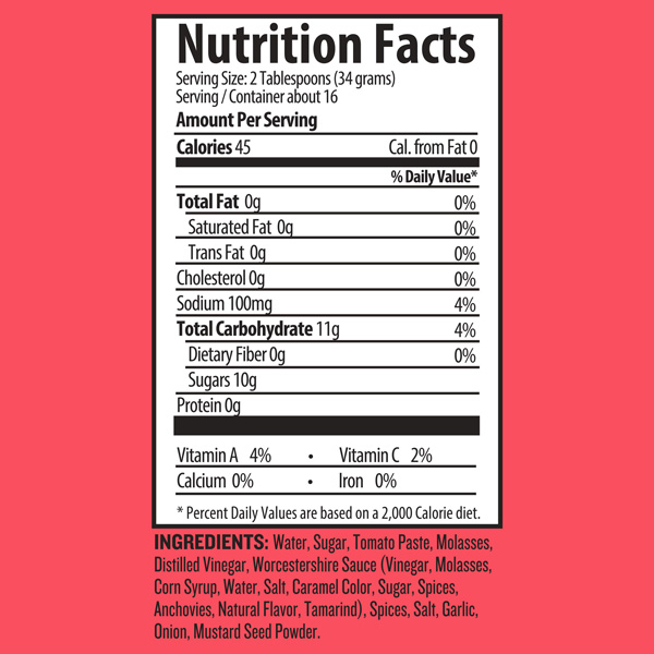 BF-Sauces_Nutrition Label_TSpicy